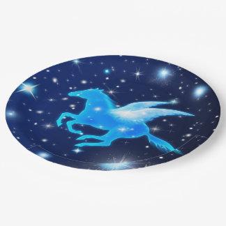 Flying Pegasus Paper Plate