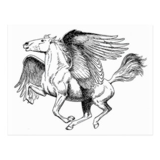 flying Pegasus Postcard