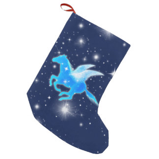 Flying Pegasus Small Christmas Stocking