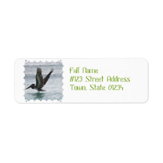 Flying Pelican Return Address Label