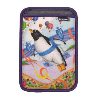 Flying penguin iPad mini sleeve