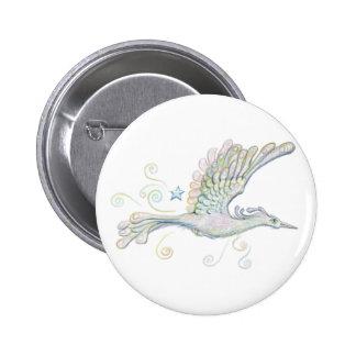 Flying Phoenix 6 Cm Round Badge