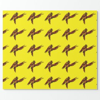 Flying Phoenix Wrapping Paper