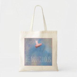 Flying Pig - Be Miraculous Tote Bag