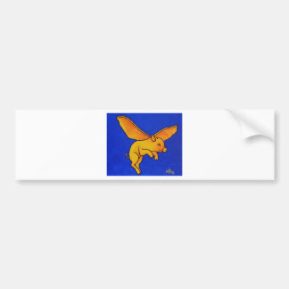 Flying Pig Bumper Sticker