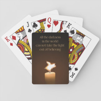 Flying Pig Candle Flame Playing Cards