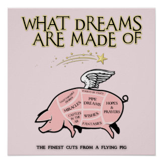 Flying Pig Cuts-What Dreams Are Made Of Poster
