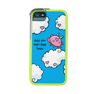 Flying Pig Dances on Clouds Customisable Case For iPhone 5
