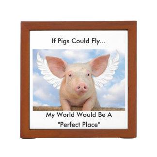 Flying Pig Desk Organizer