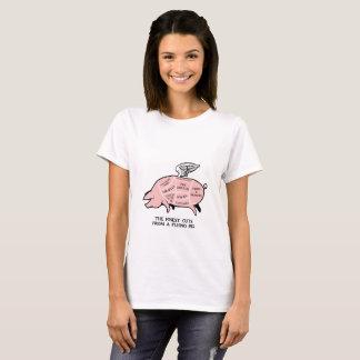 Flying Pig Diagram T-Shirt