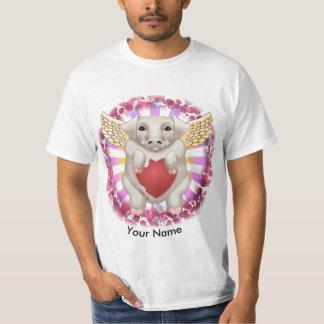 Flying Pig Love custom name value T-Shirt