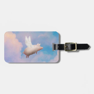 flying pig luggage tag