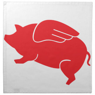flying pig  🐷 napkin