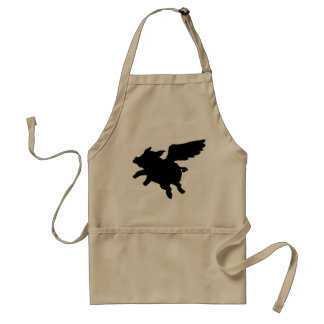 Flying Pig Silhouette Standard Apron