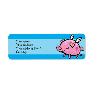 Flying Pig Slim Address label