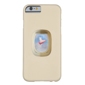 Flying Pig Through Airplane Window Barely There iPhone 6 Case