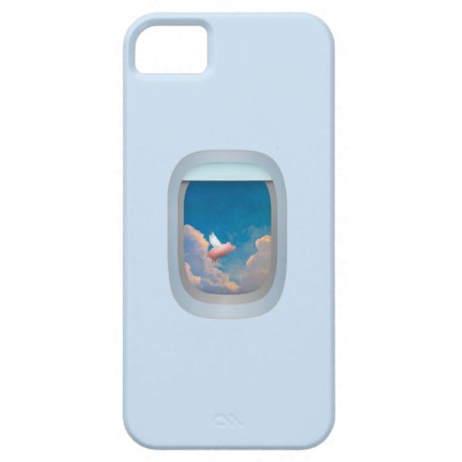 flying pig through window iphone 5 custom case iPhone 5 covers