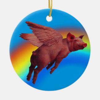 flying pig tree ornament