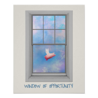 Flying Pig-Window of Opportunity Poster