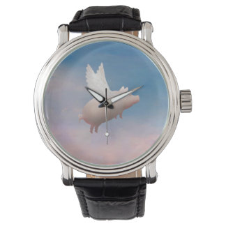 flying pig wrist watch
