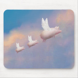 flying piglets mouse pad