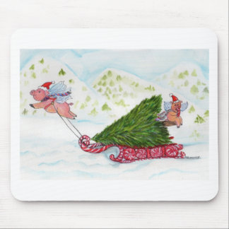 Flying Pigs Bringing Home the Tree Mouse Pad