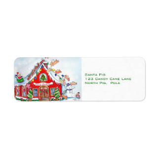 Flying Pigs Decorate the House  Label Return Address Label