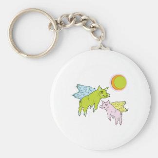 Flying Pigs Keychain