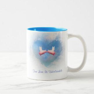 Flying Pigs Kiss-True Love Is Unbelievable Mug