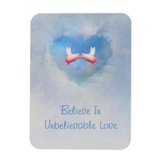 Flying Pigs Kissing-Believe In Unbelievable Love Magnet