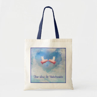 Flying Pigs Kissing-Unbelieveable Love Tote Bag