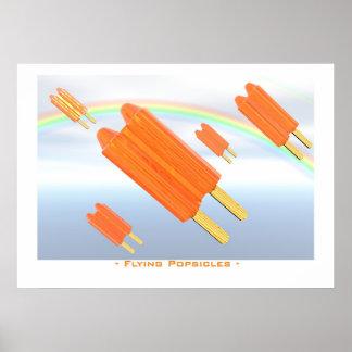 Flying popsicles poster