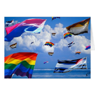 """""""Flying Pride"""" by Mark Thaler Note Card"""