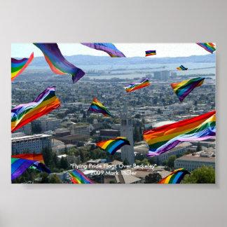 """Flying Pride Flags Over Berkeley"" Poster"