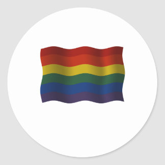 Flying Rainbow pride flag Classic Round Sticker