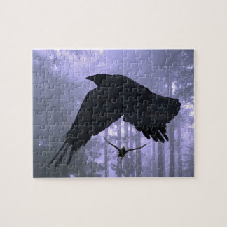 Flying Ravens, Forest & Eerie Eyes Puzzle
