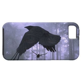 Flying Ravens, Forest & Eerie Eyes Tough iPhone 5 Case