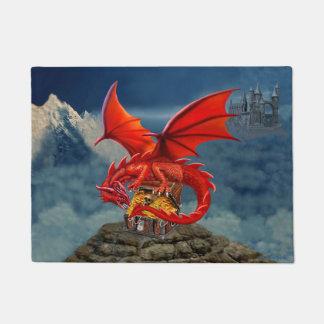 Flying Red Dragon's Treasure Chest Doormat