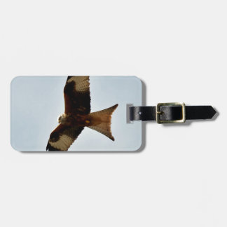 flying red kite luggage tag