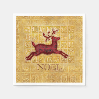 Flying Reindeer Personalized Paper Napkin