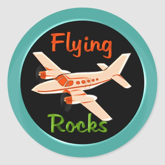 Flying Rocks Round Sticker