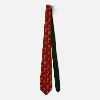 Flying Rose Motif on a Tie