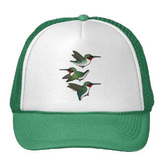 Flying Ruby-throated Hummingbird Hats