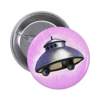 Flying Saucer 6 Cm Round Badge