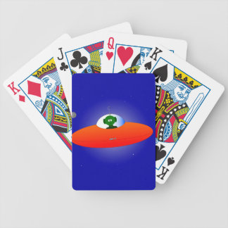 Flying Saucer Bicycle Playing Cards