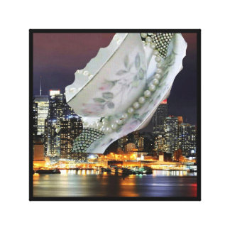 Flying Saucer City by Renee Canvas Print