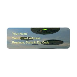 Flying Saucer Fleet Label Return Address Label