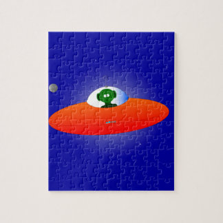 Flying Saucer Jigsaw Puzzle