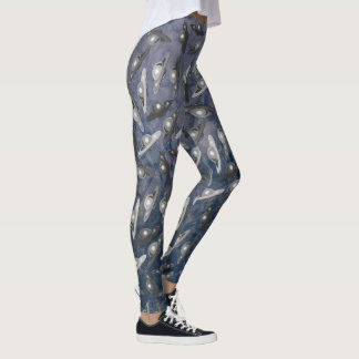 FLYING SAUCER, UFO BLUE by Jetpackcorps Leggings