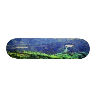 Flying saucers in the sky 19.7 cm skateboard deck